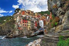 在意大利- Riomaggiore的旅行 库存图片