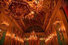在意大利medici宫殿空间里面的球佛罗伦&#33 免版税库存图片