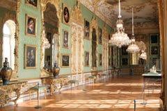 在慕尼黑住所的绿色画廊 免版税库存图片
