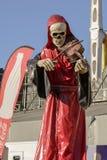 在慕尼黑啤酒节的小提琴手骨骼,斯图加特 库存照片