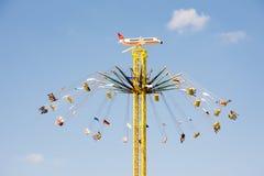 在慕尼黑啤酒节的巨大的Chairoplane在慕尼黑 库存图片
