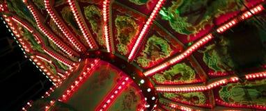 在慕尼黑啤酒节的美丽的旋转木马在慕尼黑 免版税库存照片