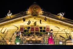 在慕尼黑啤酒节的Goldener哈恩摊位在慕尼黑,德国, 2015年 免版税库存照片