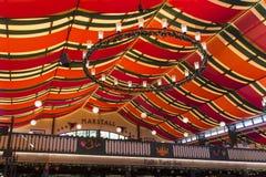 在慕尼黑啤酒节的Marstall帐篷在慕尼黑,德国, 2015年 库存照片
