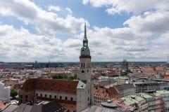 在慕尼黑的市中心的看法 免版税图库摄影