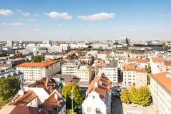 在慕尼黑的鸟瞰图 免版税库存照片