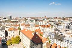 在慕尼黑的鸟瞰图 图库摄影