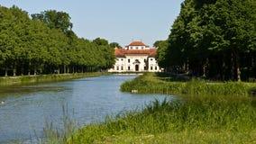 在慕尼黑附近的Lustheim宫殿 图库摄影