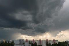 在慕尼黑- Neuperlach的风暴 免版税库存图片