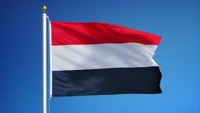 在慢动作的也门旗子无缝使成环与阿尔法 皇族释放例证