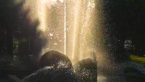 在慢动作的喷泉 影视素材