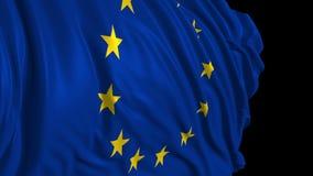 在慢动作的欧洲旗子 旗子在风顺利开发 皇族释放例证