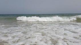 在慢动作的波浪在地中海在突尼斯 股票视频