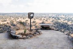 在戈兰高地的观点在六角形水池附近在以色列 免版税图库摄影