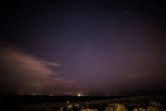 在戈尔韦和灯塔的星 图库摄影