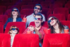在戏院的人民的情感 免版税图库摄影