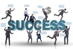 在成功企业概念的商人 免版税图库摄影