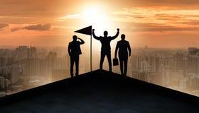 在成就和配合概念的商人 免版税库存照片