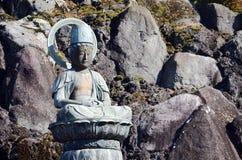 在成田圣寺庙,日本的菩萨雕象 库存图片