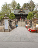 在成田圣Shinsho籍,日本的Nio星期一门 库存照片