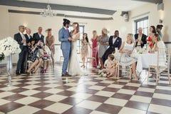 在我们的婚礼的第一个舞蹈 库存图片