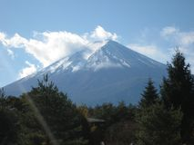 在我们的途中向富士山 免版税库存照片