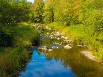 在我的家附近的一条小河 免版税库存图片