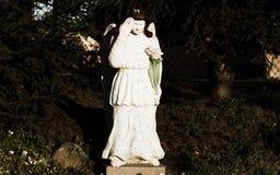 在我的庭院的天使 库存照片