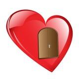 在我的心脏的门的敲 免版税库存照片