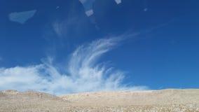在我的途中的一片沙漠 免版税库存图片