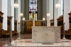 在我们的夫人教会的法坛地区在巴伐利亚 免版税库存照片