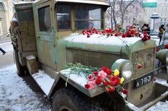 在战争期间的卡车 库存照片