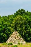 在战场的南北战争金字塔 免版税图库摄影