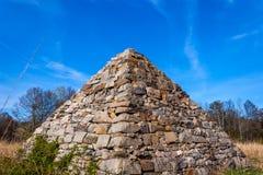 在战场的南北战争金字塔 图库摄影