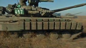 在战场的坦克 影视素材