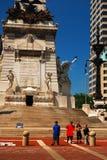 在战士和水手纪念碑在印第安纳波利斯 库存图片