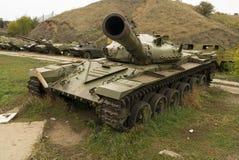在战斗以后的左坦克 库存图片
