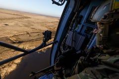 在战斗任务期间的乌克兰军队直升机 库存图片