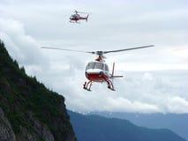 在战斗的直升机 免版税库存照片