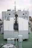 在战舰的枪 免版税图库摄影