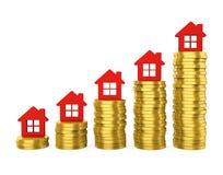 在房地产例证的成长 向量例证