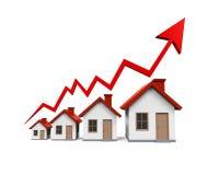 在房地产例证的成长 免版税库存图片