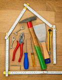 Housebuildung 免版税库存照片
