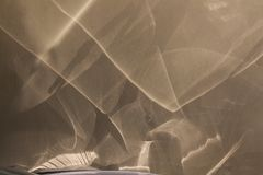 在房子的墙壁上的抽象反射 图库摄影