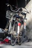 在房子的自行车在斯里兰卡的海岛上 免版税库存图片