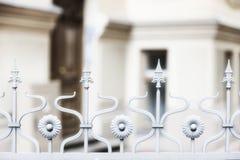 在房子的装饰篱芭 免版税图库摄影