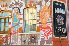 在房子的绘画在开普敦 免版税库存图片