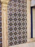 在房子门面的Azulejos,里斯本,欧洲 图库摄影