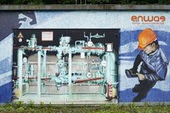 在房子ENWAG的街道画 免版税库存照片