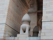 在所有印度战争纪念建筑曲拱印度门曲拱,新德里,印度的板刻;设计由埃德温・鲁琴斯的11月19先生日新2017 库存图片